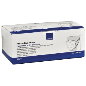 PK50 PROTECTIVE DISPOSABLE MASK BLUE