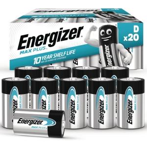 BATTERIER ENERGIZER ALKALINE ADVANCED D PAKKE A 20 STK