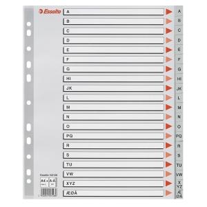 Register Esselte, A-Å, A4+, grå