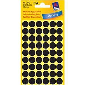 /BX10X270 AVERY 3140 LABEL Ø12MM BLACK