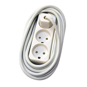 POWER AC 3 SOCKETS GROUNDING 3M WHITE