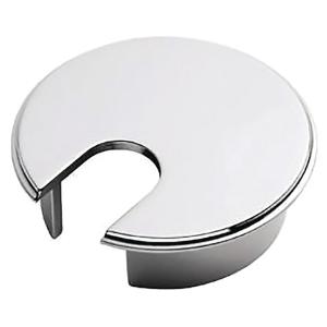 Hæve-sænke-bord tilbehør kabelrosetter Ø 72 mm krom pakke a 2 stk