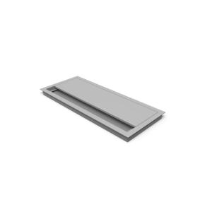 Hæve-sænke-bord tilbehør kabelkanal m/børste 45x10 cm aluminium