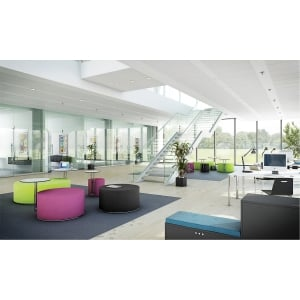 RECEPTION CALL LOUNGE PUFF M/BORD DIA90CM LILLA