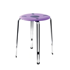 SPACE 460 STOOL HEIGHT 460MM  PURPLE