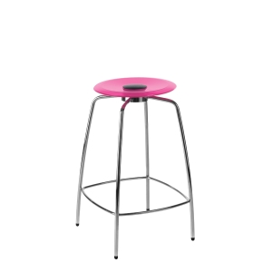 STOL UFO DIAMETER 395MM HØJDE 760 STOL/BARSTOL DIAMETER 395MM HØJDE 760MM PINK