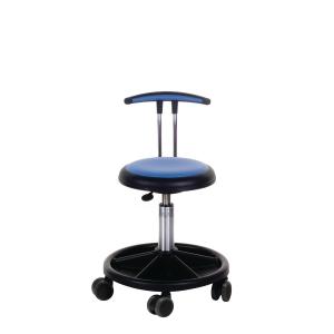 Arbejdsstol Génito New Ufo 425, høj T-ryg, medium, blå