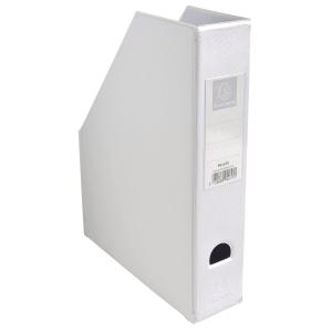 Tidsskriftskassette Exacompta 7 cm hvid