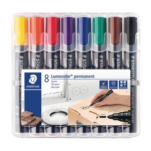 Permanent marker Staedtler Lumocolor 352, etui a 8 farver