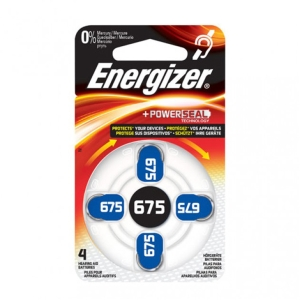 /PK6X4 ENERGIZER 675 HEARING BATTERY