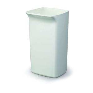 Affaldsspand Durable Durabin, kvadratisk, 40 L, hvid