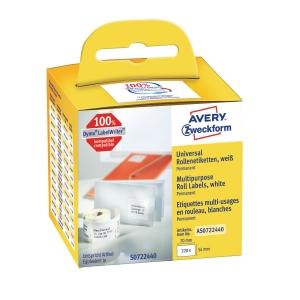 Universaletiket Avery permanent 54 x 70 mm pakke med 1 rl a 320 stk