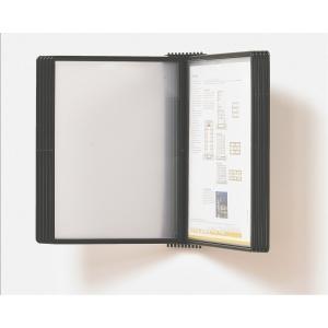 Vægstander Tarifold, A4, 10 lommer, sort