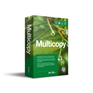 Multifunktionspapir MultiCopy Original A4 80 g kasse med 5 pakker a 500 ark