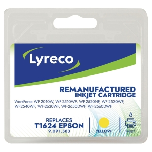 Blækpatron Lyreco kompatibel Epson T1624 gul