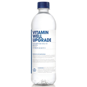 Vitaminvand Vitamin Well, citron og kaktus, 500 ml, pakke a 12 stk.