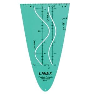 Parabola skabelon Linex, sinus/cosinus