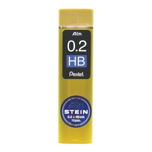 Stifter Pentel AIN STEIN High Polymer, 2B, 0,2 mm, etui a 12 stk.