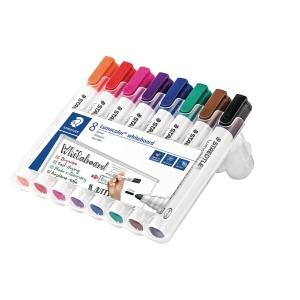 Whiteboardmarker Staedtler Lumocolor 351, pakke a 8 farver