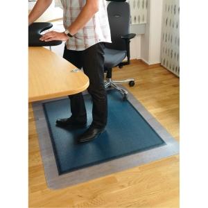 Stoleunderlag SOS til hårdt gulv 120x150 cm grå