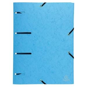 EXACOMPTA 3-FLAP FOLDER PUNCHED A4 BLUE
