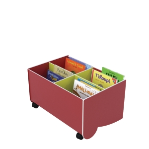 PAPERFLOW BOOKCASE SMALL RED/LIME