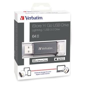 USB-nøgle 3.0 Verbatim iStore n Go Lightning, 64 GB