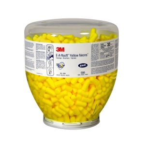 Ørepropper dispenser refill 3M Ear Soft Yellow Neons, 500 par