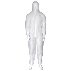 Beskyttelsdragt OX-ON, engangsdragt, hvid, str. L
