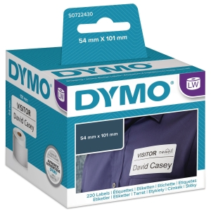 ETIKETTER DYMO 99014 54X101MM RULLE A 220 STK