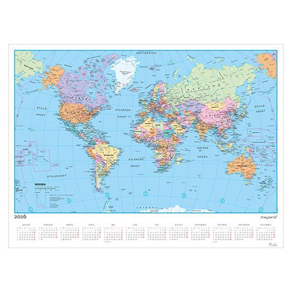 Calendar mayland 0666 20 wall calendar with world cart 85x63 cm gumiabroncs Images