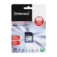 MINNESKORT INTENSO SDHC KLASS 10 32GB