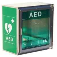 SKÄP I STÄL, UTOMHUS FOR AED HJÄRTSTARTARE
