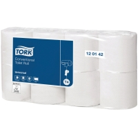 TOALETTPAPPER TORK BASIC 1-LAGER 56M 64 RULLAR/PÅSE