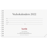 KALENDER BURDE 91 1410 VECKOKALENDERN ALMANACKA REFILL SPIRALBUNDEN 300X90MM