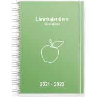 LÄRARKALENDERN FÖR FÖRSKOLAN 901252 A5 GRØN 148X210 MM