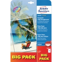 FOTOPAPPER AVERY 2497 PREMIUM PHOTO PAPER A4 230G 2X20 ARK/FP
