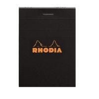 NOTERINGSBLOCK RHODIA 116009 LINJERAT A7 SVART