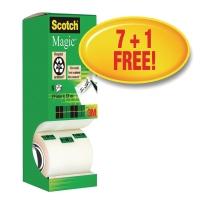 TEJP SCOTCH MAGIC 810 19MMX33MM 1 GRATIS RULLE 8 RULLAR/FP