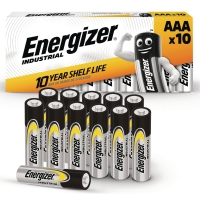 BATTERIER AAA ENERGIZER INDUSTRIAL ALKALINE 1,5V PACK Á 10 ST