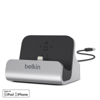DOCKINGSTATION BELKIN CHARGE & SYNC TILL IPHONE SILVER