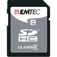 SD-MINNESKORT EMTEC SILVER  8 GB