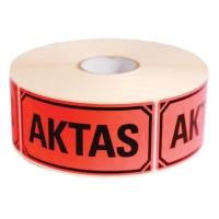 ETIKETT SVART TRYCK AKTAS 100X50MM RULLE MED 1 000 ST