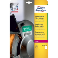 ETIKETTER AVERY ULTRA RESISTENT L7916-10 210X148MM 20 ST/FP