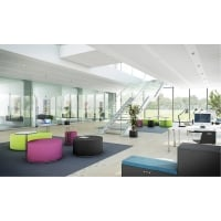 RECEPTION CALL LOUNGE PUFF M/BORD DIA90CM SVART
