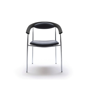 GALLA MEETING CHAIR W/ARMR H46/78CM BLK