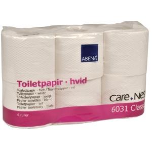 Toalettpapper Abena Classic 2-lager 50m vit 42 rullar/fp