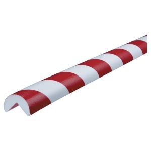 Kantskydd Knuffi typ A PU 1m röd/vit