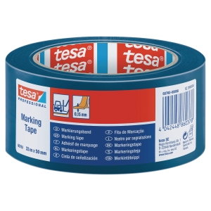 Golvmärkningstejp Tesa 60760 50mmx33m blå