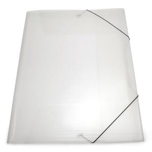 GUMMIBANDSMAPP PLASTPETTER 3-KLAFF 0,55MM PP A3 10 ST/FP